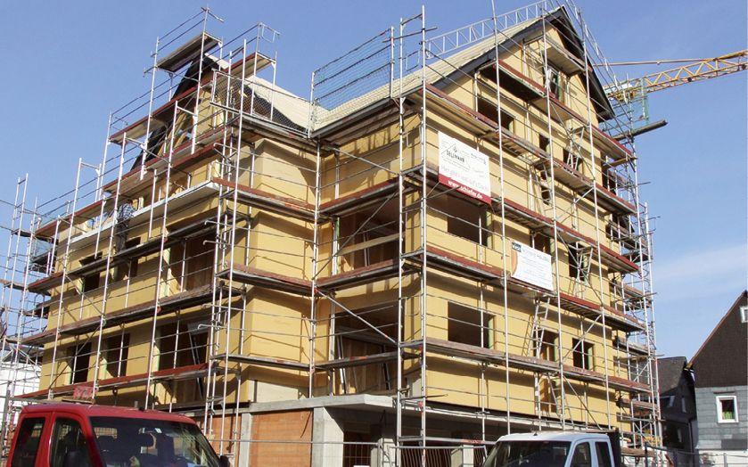Neubau eines mehrgeschossigen Mehrfamilienhauses in Holzbauweise