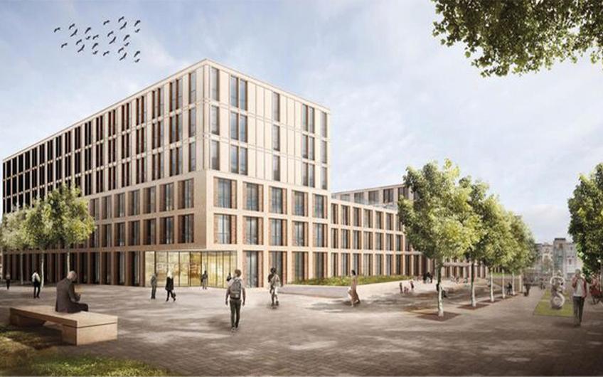 Dortmunder U – Neues Zuhause für Studenten (©SSPAG Dortmund EmilMoogPlatz Visualisierung)
