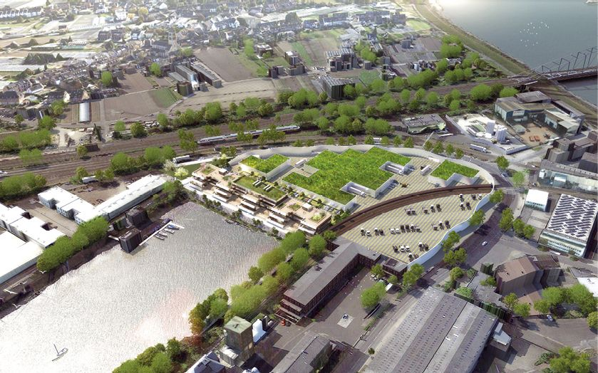 Am Düsseldorfer Hafen werden die C-View Offices errichtet