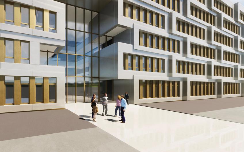 Visualisierung für den Neubau eines Verwaltungsgebäudes in Dortmund