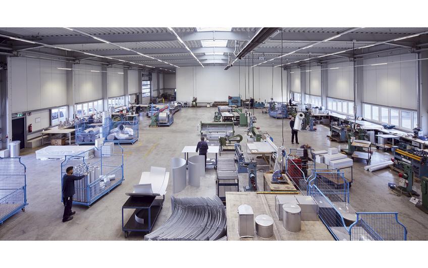 Werkstatthalle des Gewerks Isolierung am XERVON-Standort Bottrop