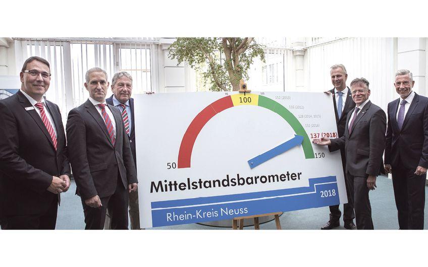 Mittelstandsbarometer 2018: Wirtschaft boomt im  Rhein-Kreis Neuss