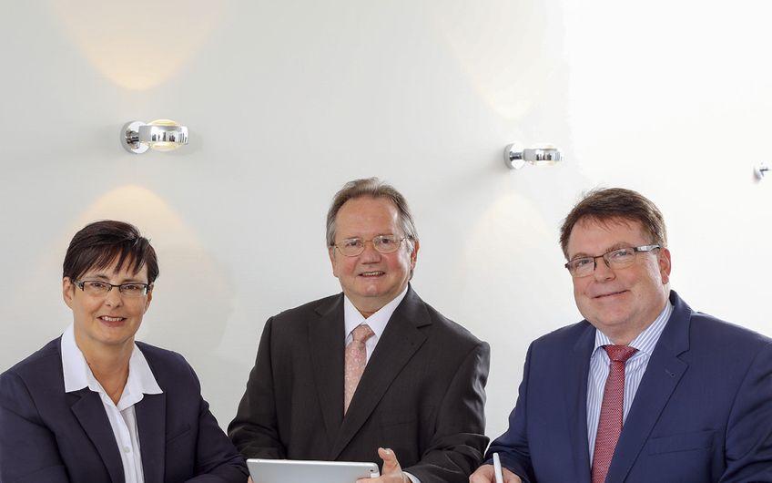Die Geschäftsführung von Graef Computer (v.l.): Christine Schmidt, Karl-Heinz Graef und Wolfram Schmitz