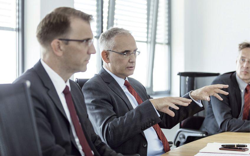 Im Interview: Jens Christian Schmale, Erik van Leeuwenstijn und Sven Labitzke (v.l.)