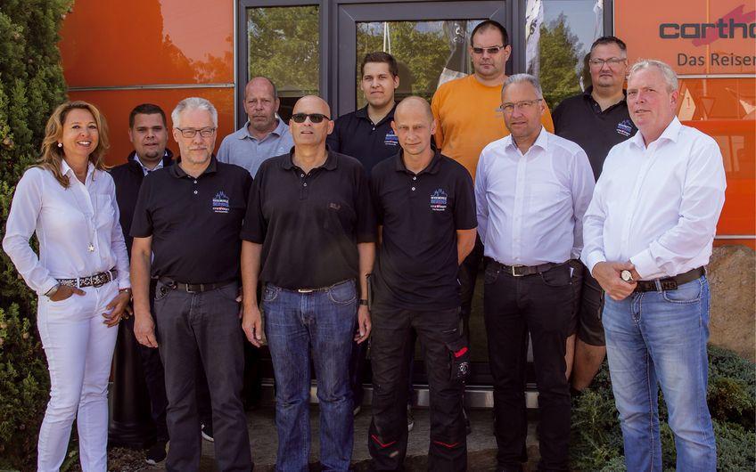 Das Team von  Reisemobile Berens (Foto: Dietmar Clotten)