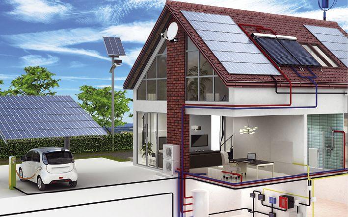 Sonnengelber Strom vom Dach