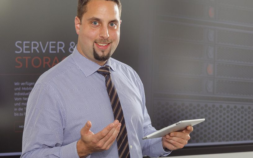 Tim Blattmann sorgt für die Sicherheit  und Hochverfügbarkeit der Kundendaten
