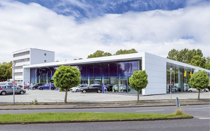 Neubau, Sanierung, Erweiterung:  Autohaus Bernds