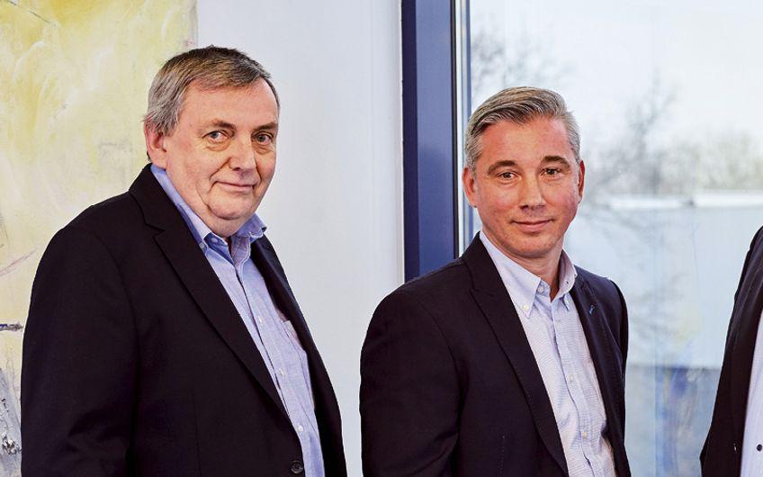 Giesers-Geschäftsleitung: Helmut Giesers, Markus Giesers, Prokurist Arndt Michelbrink und Willi Bischop (v.r.)