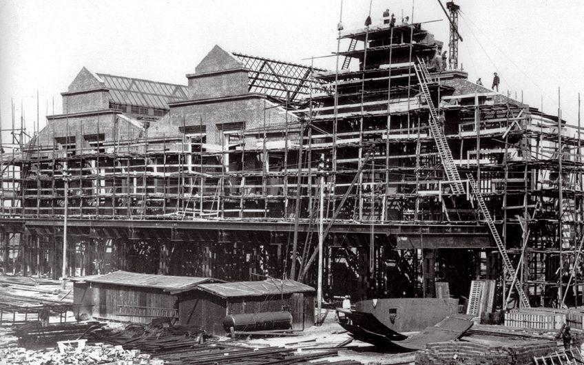 Bau des Bayer-Werks Dormagen 1917 (Foto: Bayer AG)