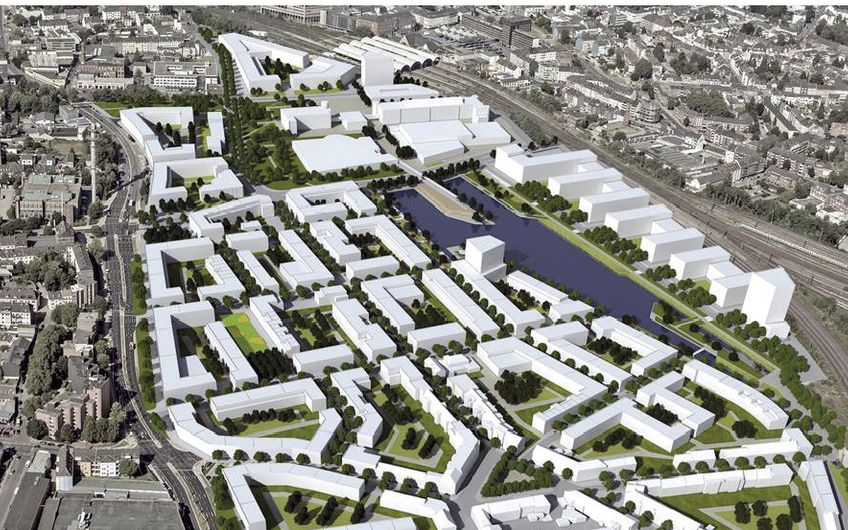 """Unweit des Mönchengladbacher Hauptbahnhofes entsteht die innovative """"City-Ost"""" (Foto: WFMG)"""