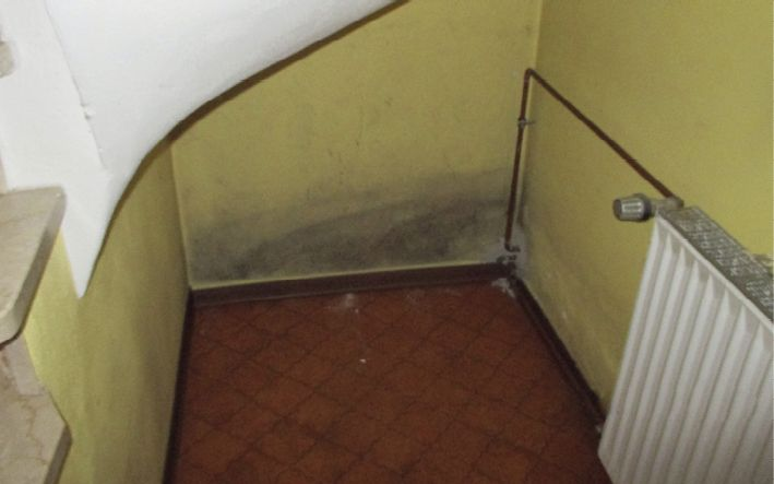 Feuchter Keller, vor und nach der Sanierung