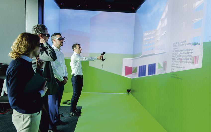 Fachsimpeln im virtuellen Gebäude (Foto: Ludmilla Parsyak)