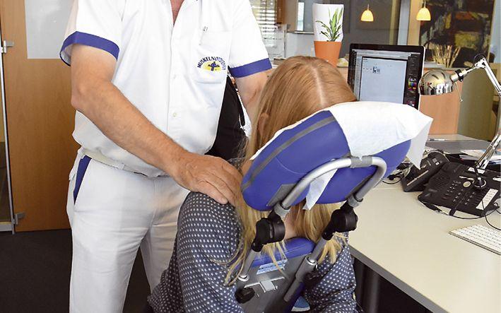 Muskelnotdienst André Sanders: Entspannt am Arbeitsplatz