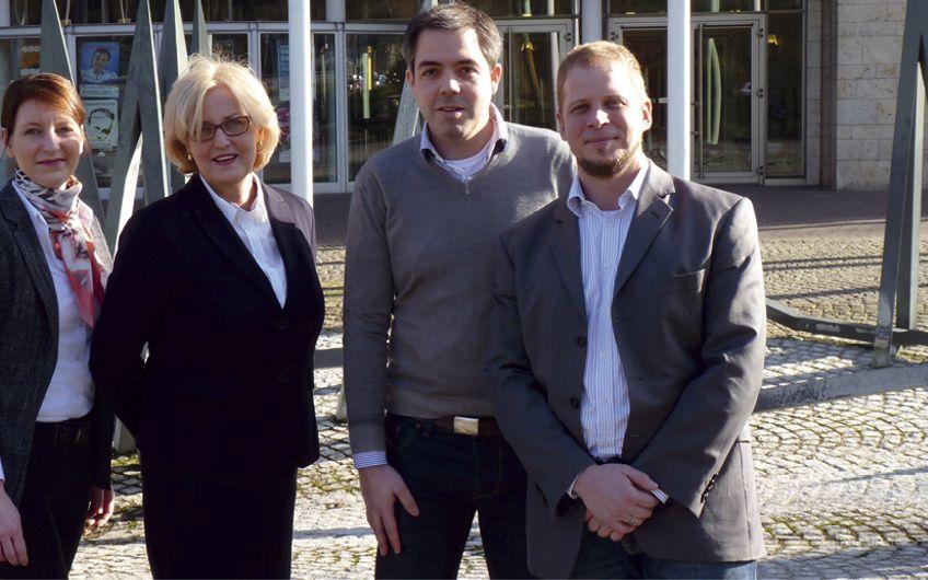 Jenny Baran (Leiterin Projektmanagement), Inge Kammerichs (MST-Geschäftsführerin), Paul Otto (Facility Management), Marc Lenz (Technischer Leiter) (v.l.) (Foto: MST GmbH)