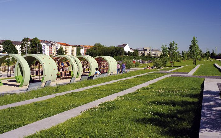 Le Quartier Central, Düsseldorf: Konversion einer Bahnbrache zu einem Wohn- und Freizeitareal