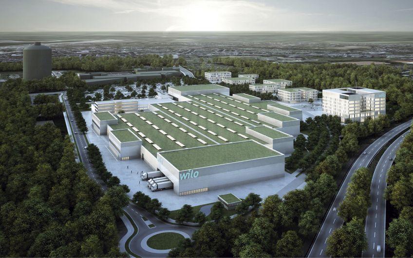 Mit dem Wilo-Campus realisiert das Technologieunternehmen das größte Standortentwicklungsprojekt der Unternehmensgeschichte (Quelle: Wilo SE)