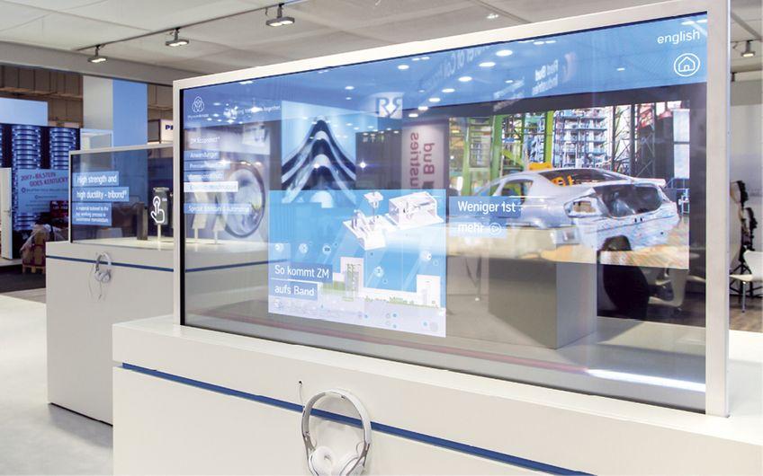 SIGMA System Audio-Visuell: Zeitgemäßer Messebau trifft auf modernste Medientechnik