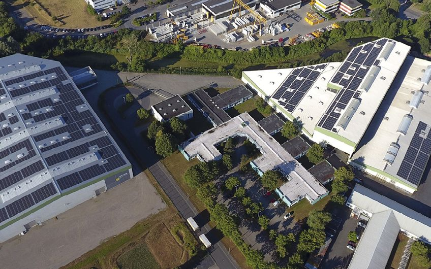 Die Photovoltaikanlagen der Winkels Messe- und Ausstellungsbau GmbH