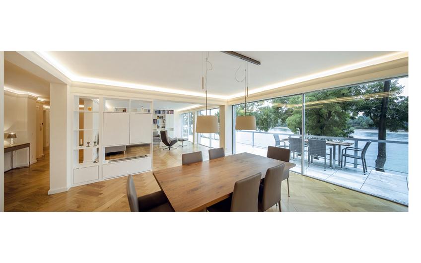 Auch im gehobenen Wohnungsbau sind die Düsseldorfer sehr aktiv (Foto: Holger Knauf 2019 – Umbau Wohnhaus Düsseldorf)
