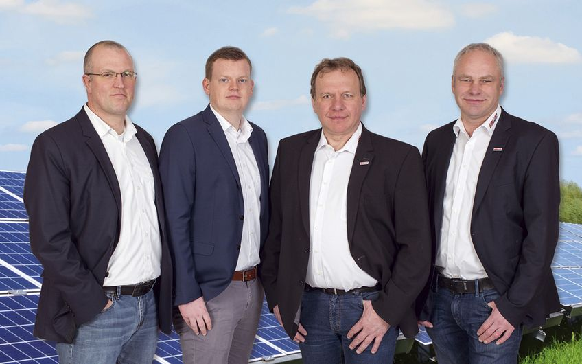 Die Unternehmensleitung von B&W Energy (v.l.): Carsten Frede, Marco Sundrum, Josef Busch und Anton Wissing