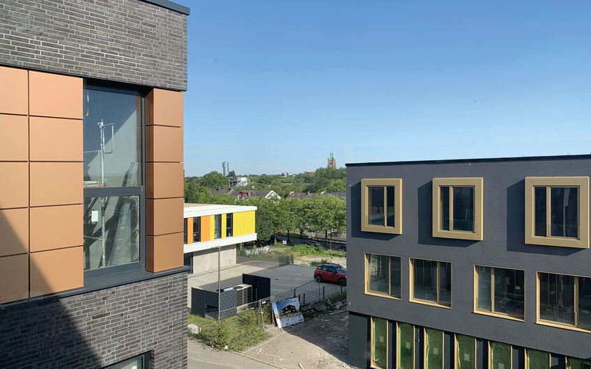Gebäude-Ensemble auf dem Bochumer Stahlwerk-Plateau