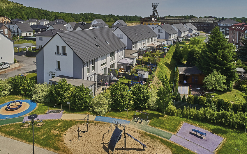 Das Calluna Quartier: familiengerechtes Wohnen auf der ehemaligen Bergwerksfläche (© RAG Montan Immobilien, Fotograf: Thomas Stachelhaus)
