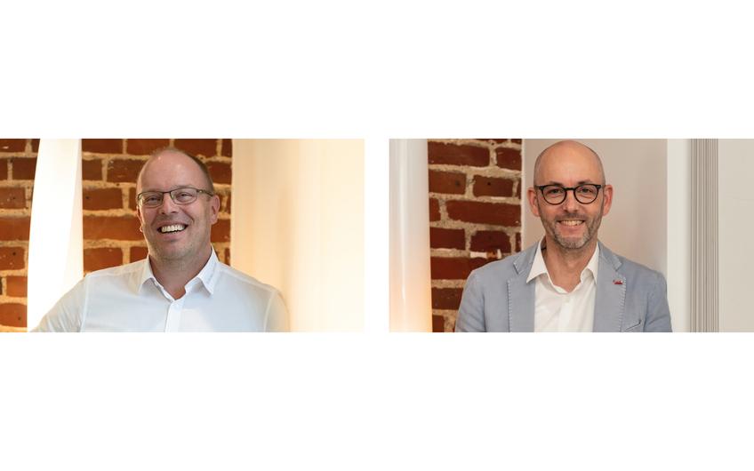 Die Geschäftsführer Sven Thore Wohnrade und Andreas Bünger (v.l.)