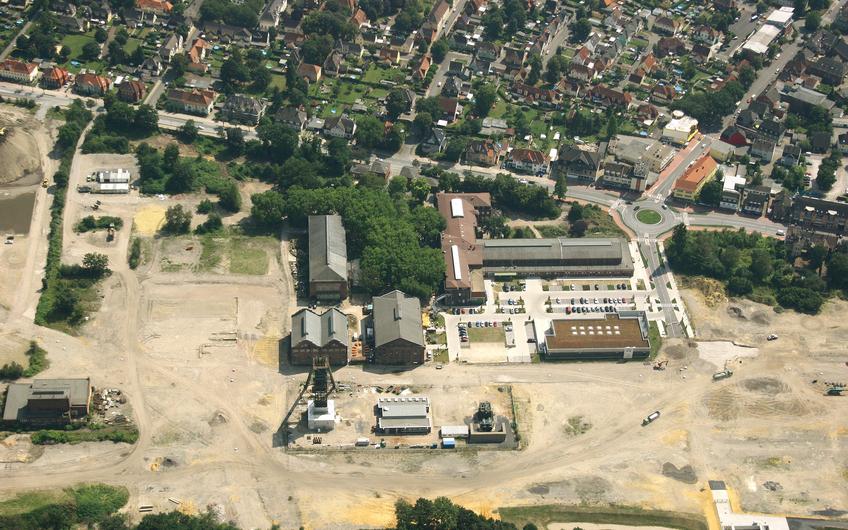 Beginn der Entwicklung: Luftbild des zentralen Standortes im Jahr 2013