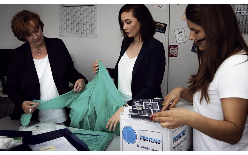 Das Produktportfolio  umfasst mehr als 10.000 Artikel, von der Schutzbrille bis zum elektrischen Boden-Reinigungsgerät (Foto: Kai Murek)