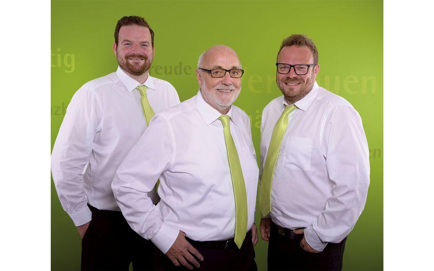 Agenturinhaber Ulrich Brüggen und  seine Söhne Marco und Tim (Foto:Pam Roxwell)