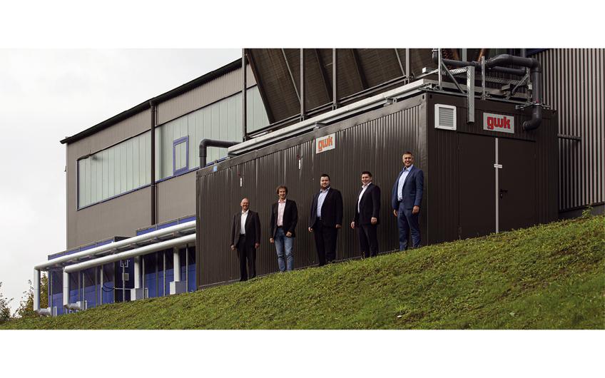 Stolzes Projektteam: Werner Schmidt und Kai Lechner von der VIA sowie Fabian Heuel, Nicolai Küls und Ralf Radke (v.l.) (Foto: Wort & Lichtbild)