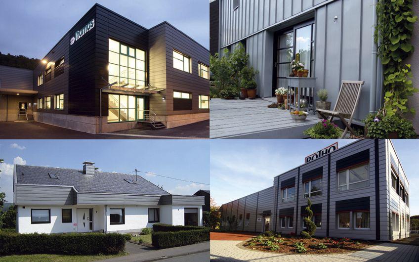 Bei A. + W. SAHM legt man Wert auf qualitativ und optisch hochwertige Ausführung der Dächer und Fassaden.