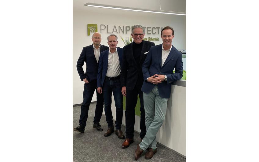 Ralf Battige, Thomas Mager, Uwe Breker, Mark Rappard (v.l.) (Foto: © PLANPROTECT AG)