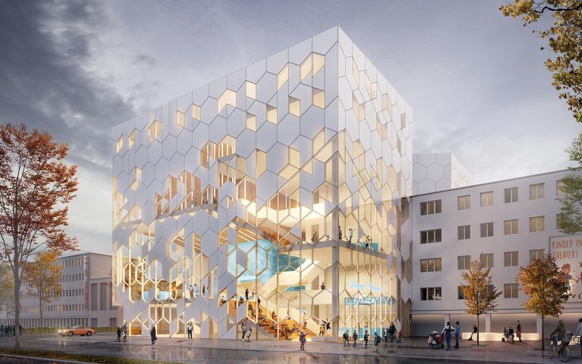 Visualisierung für den Entwurf der Kinder- und Jugendbücherei, Dortmund