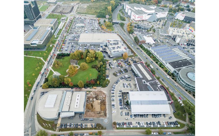 Standort Essen mit Großkunden-Leistungszentrum, Volkswagen Zentrum, Audi Zentrum und Porsche Zentrum