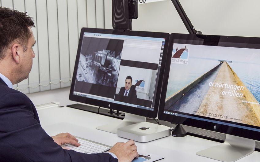Mit zwei Virtual Classroom-Studios bietet condumani den Kunden die Möglichkeit, Trainingsseminare online und überall auf der Welt verfügbar zu machen (Foto: Axel Wascher )