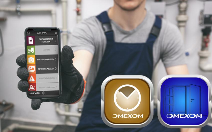 Zeiterfassung, Tagesberichte und Kontrollnachweise werden bei Omexom über eigens entwickelte Apps gesteuert