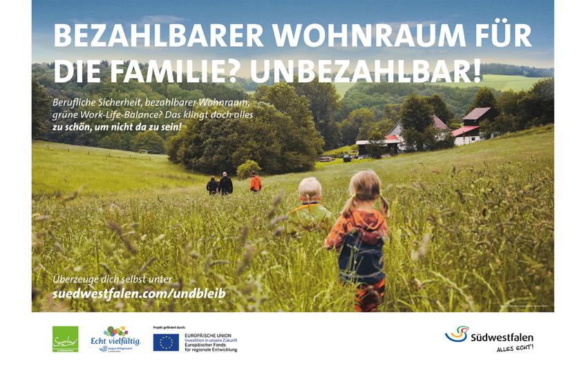 """""""Komm & Bleib: Vom Touristen zum Neubürger"""" – neue Kampagne für Südwestfalen gestartet"""