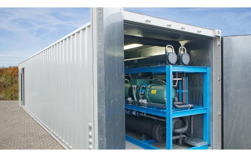 Schlüsselfertiges Komplettsystem im Anlagencontainer.
