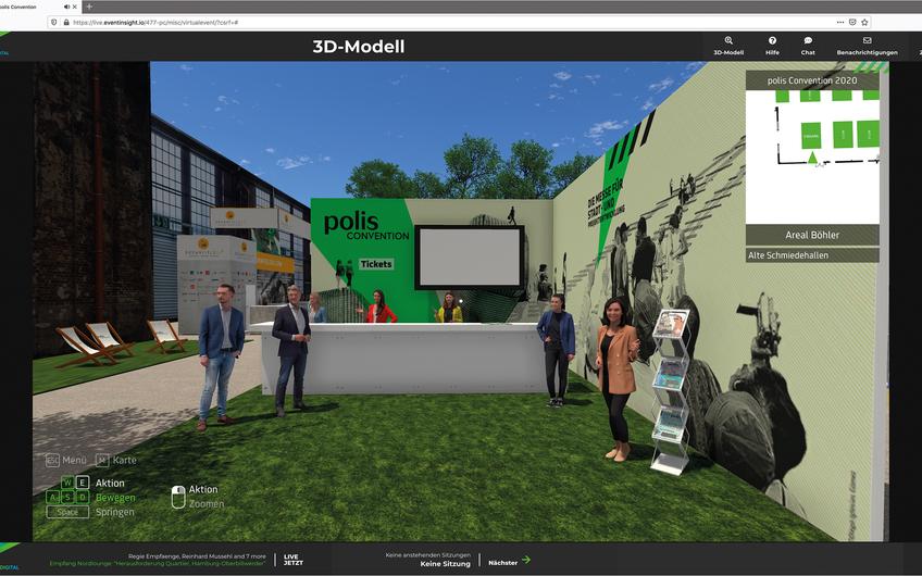 Polis Convention 2020 –  die virtuelle Immobilienmesse (polis Convention GmbH)