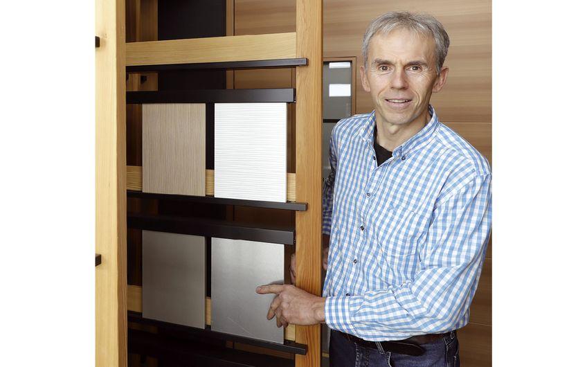 Für sämtliche Materialien bietet  Hans Schleupen ein Muster