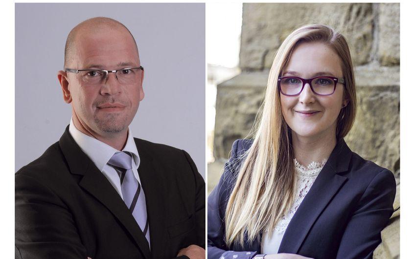 Holger Kapanski, Geschäftsführer und Cara Schwalbe, Social Media