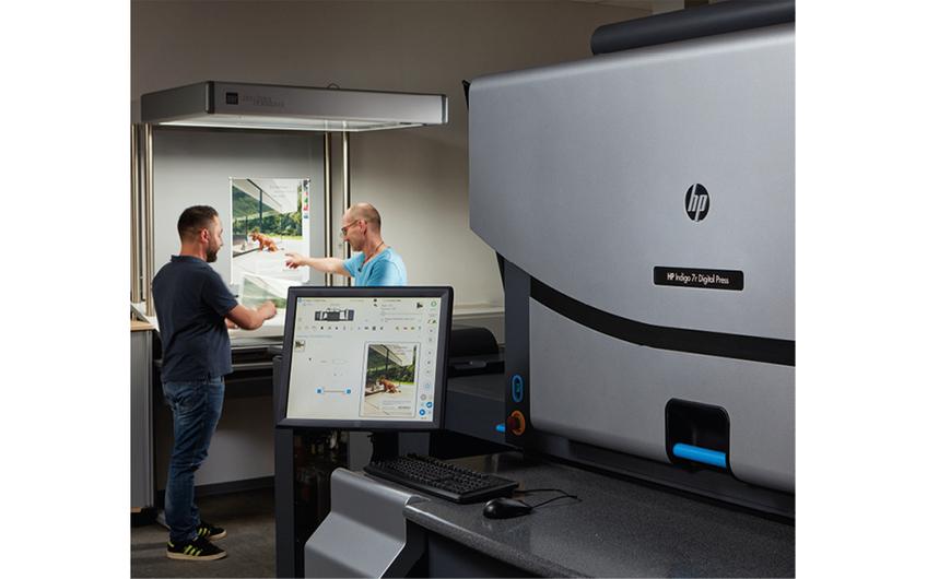 Personalisierbarer Digitaldruck auf einer HP Indigo