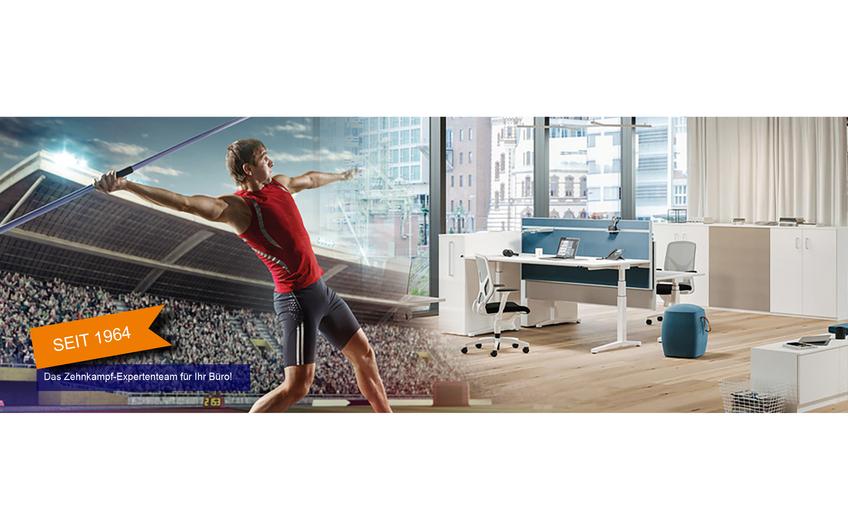 Athleten im Wettstreit  um das perfekte Büro