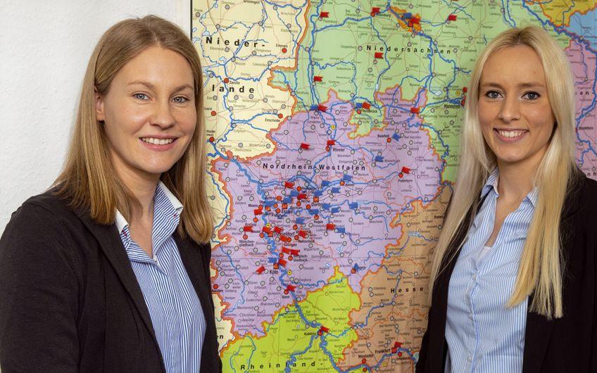 Nadine Dederichs und Maribel Nieder (v.l.) Foto: Jan Heinze
