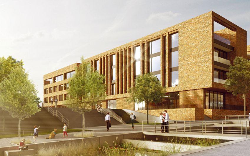 PHOENIXWERK, das zukünftige Bürogebäude SHA auf Phoenix West (Visualisierung: www.v-cube.de)