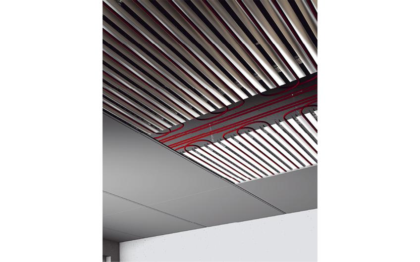 Aufbau einer Kühldeckenkonstruktion. Quelle: Climaline Ceiling Solutions GmbH
