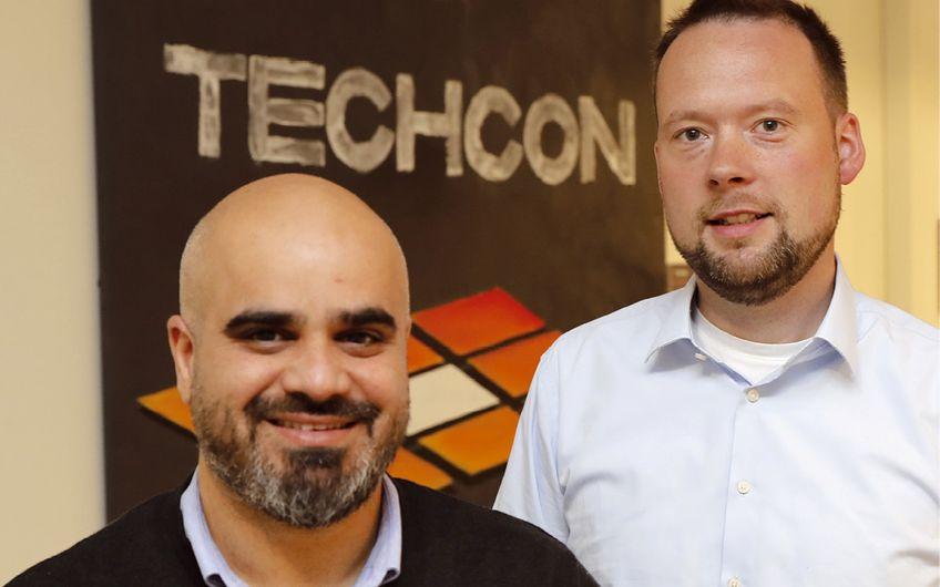 Hendrik Scharlau (r.) und Payman Keshavarzi  haben vor vier Jahren Techcon gegründet (Foto: Holger Bernert)