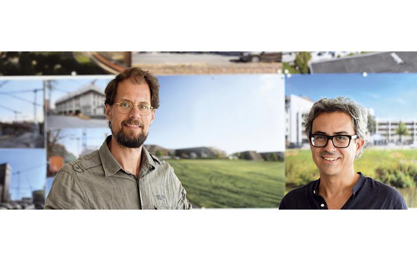 Marc Böhnke und Mario Reale (v.l.) haben das Architekturbüro greeen! architects 2008 gegründet (Foto: Gerd Lorenzen)
